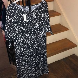 Talbots black and white dress